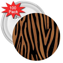 Skin4 Black Marble & Light Maple Wood (r) 3  Buttons (100 Pack)  by trendistuff
