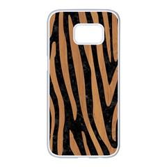 Skin4 Black Marble & Light Maple Wood (r) Samsung Galaxy S7 Edge White Seamless Case by trendistuff
