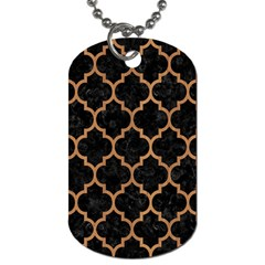 Tile1 Black Marble & Light Maple Wood Dog Tag (two Sides) by trendistuff