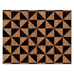 Triangle1 Black Marble & Light Maple Wood Rectangular Jigsaw Puzzl by trendistuff