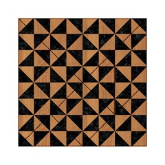 Triangle1 Black Marble & Light Maple Wood Acrylic Tangram Puzzle (6  X 6 ) by trendistuff
