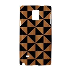 Triangle1 Black Marble & Light Maple Wood Samsung Galaxy Note 4 Hardshell Case by trendistuff