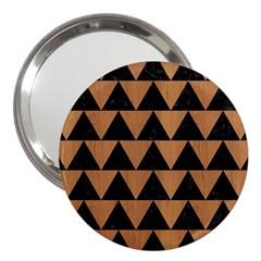 Triangle2 Black Marble & Light Maple Wood 3  Handbag Mirrors by trendistuff