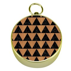Triangle2 Black Marble & Light Maple Wood Gold Compasses by trendistuff