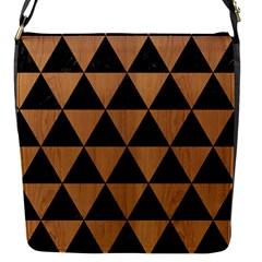 Triangle3 Black Marble & Light Maple Wood Flap Messenger Bag (s) by trendistuff