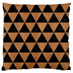 Triangle3 Black Marble & Light Maple Wood Standard Flano Cushion Case (one Side) by trendistuff