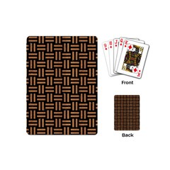Woven1 Black Marble & Light Maple Wood Playing Cards (mini)  by trendistuff