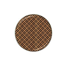Woven2 Black Marble & Light Maple Wood (r) Hat Clip Ball Marker (10 Pack) by trendistuff