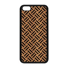 Woven2 Black Marble & Light Maple Wood (r) Apple Iphone 5c Seamless Case (black) by trendistuff