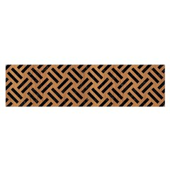 Woven2 Black Marble & Light Maple Wood (r) Satin Scarf (oblong) by trendistuff