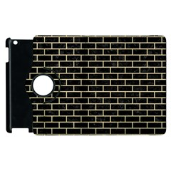Brick1 Black Marble & Light Sand Apple Ipad 3/4 Flip 360 Case by trendistuff