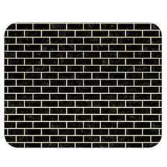 Brick1 Black Marble & Light Sand Double Sided Flano Blanket (medium)  by trendistuff
