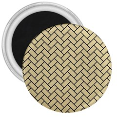 Brick2 Black Marble & Light Sand (r) 3  Magnets by trendistuff