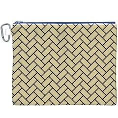 Brick2 Black Marble & Light Sand (r) Canvas Cosmetic Bag (xxxl) by trendistuff