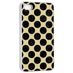 Circles2 Black Marble & Light Sand (r) Apple Iphone 4/4s Seamless Case (white) by trendistuff