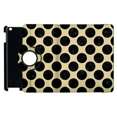 Circles2 Black Marble & Light Sand (r) Apple Ipad 2 Flip 360 Case by trendistuff