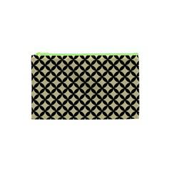 Circles3 Black Marble & Light Sand (r) Cosmetic Bag (xs) by trendistuff