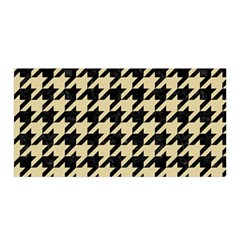 Houndstooth1 Black Marble & Light Sand Satin Wrap by trendistuff