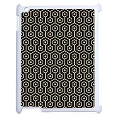 Hexagon1 Black Marble & Light Sand Apple Ipad 2 Case (white) by trendistuff