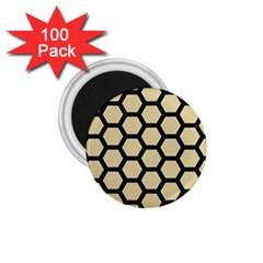 Hexagon2 Black Marble & Light Sand (r) 1 75  Magnets (100 Pack)  by trendistuff
