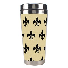 Royal1 Black Marble & Light Sand Stainless Steel Travel Tumblers by trendistuff