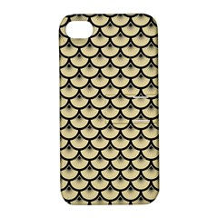 Scales3 Black Marble & Light Sand (r) Apple Iphone 4/4s Hardshell Case With Stand by trendistuff