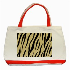 Skin3 Black Marble & Light Sand (r) Classic Tote Bag (red) by trendistuff