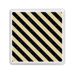 Stripes3 Black Marble & Light Sand (r) Memory Card Reader (square)  by trendistuff