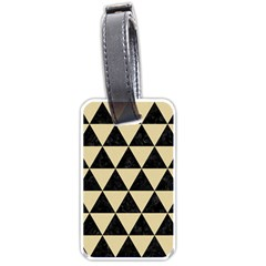 Triangle3 Black Marble & Light Sand Luggage Tags (one Side)  by trendistuff