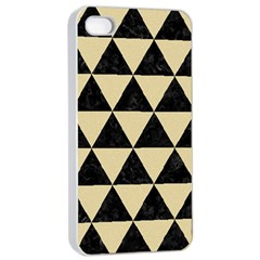 Triangle3 Black Marble & Light Sand Apple Iphone 4/4s Seamless Case (white) by trendistuff