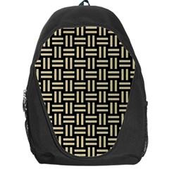 Woven1 Black Marble & Light Sand Backpack Bag by trendistuff