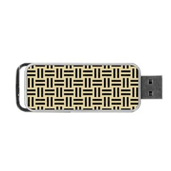 Woven1 Black Marble & Light Sand (r) Portable Usb Flash (two Sides) by trendistuff