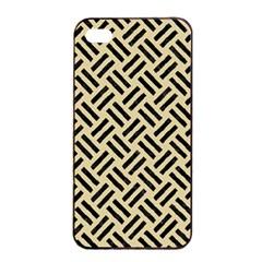Woven2 Black Marble & Light Sand (r) Apple Iphone 4/4s Seamless Case (black) by trendistuff