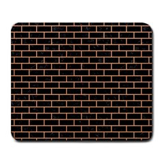Brick1 Black Marble & Natural Red Birch Wood Large Mousepads by trendistuff