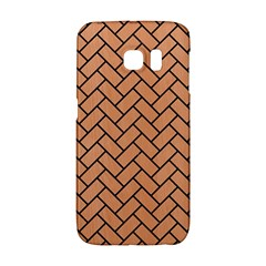 Brick2 Black Marble & Natural Red Birch Wood (r) Galaxy S6 Edge by trendistuff