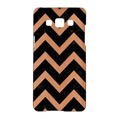 Chevron9 Black Marble & Natural Red Birch Wood Samsung Galaxy A5 Hardshell Case  by trendistuff