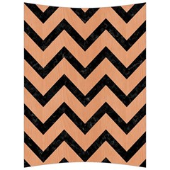 Chevron9 Black Marble & Natural Red Birch Wood (r) Back Support Cushion by trendistuff