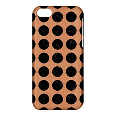 Circles1 Black Marble & Natural Red Birch Wood (r) Apple Iphone 5c Hardshell Case by trendistuff