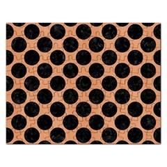 Circles2 Black Marble & Natural Red Birch Wood (r) Rectangular Jigsaw Puzzl by trendistuff