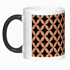 Circles3 Black Marble & Natural Red Birch Wood Morph Mugs by trendistuff
