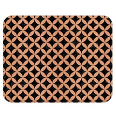 Circles3 Black Marble & Natural Red Birch Wood Double Sided Flano Blanket (medium)  by trendistuff