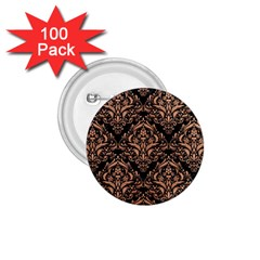 Damask1 Black Marble & Natural Red Birch Wood 1 75  Buttons (100 Pack)  by trendistuff
