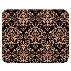 Damask1 Black Marble & Natural Red Birch Wood Double Sided Flano Blanket (medium)  by trendistuff
