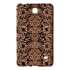 Damask2 Black Marble & Natural Red Birch Wood Samsung Galaxy Tab 4 (7 ) Hardshell Case  by trendistuff
