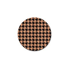 Houndstooth1 Black Marble & Natural Red Birch Wood Golf Ball Marker (4 Pack) by trendistuff