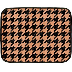 Houndstooth1 Black Marble & Natural Red Birch Wood Double Sided Fleece Blanket (mini)  by trendistuff