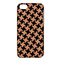 Houndstooth2 Black Marble & Natural Red Birch Wood Apple Iphone 5c Hardshell Case by trendistuff