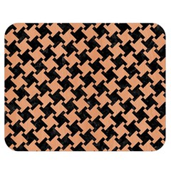 Houndstooth2 Black Marble & Natural Red Birch Wood Double Sided Flano Blanket (medium)  by trendistuff