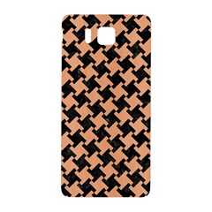 Houndstooth2 Black Marble & Natural Red Birch Wood Samsung Galaxy Alpha Hardshell Back Case by trendistuff