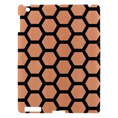 Hexagon2 Black Marble & Natural Red Birch Wood (r) Apple Ipad 3/4 Hardshell Case by trendistuff